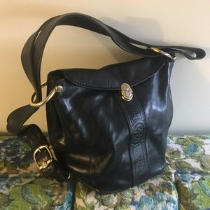 Marino Orlandi Black leather bucket purse